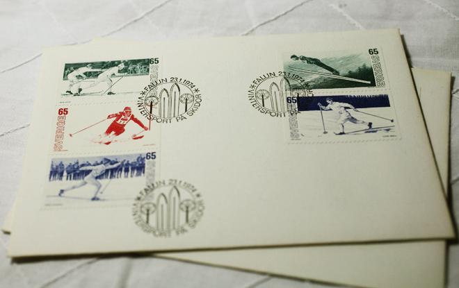 古い切手。