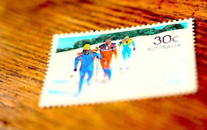 スキー切手をみて、思う。
